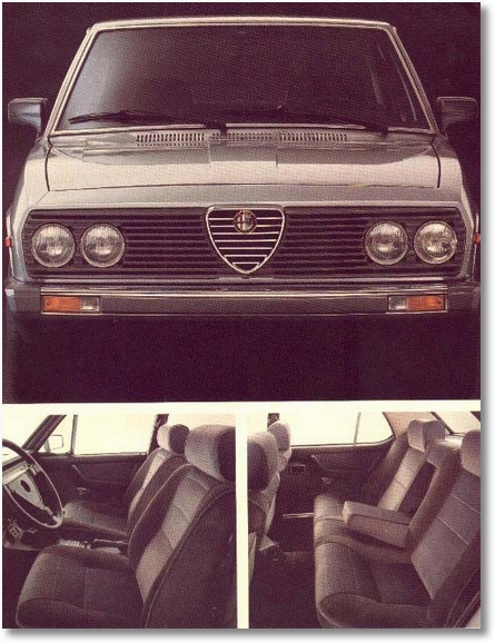 interior e frente Alfa 2300 Ti4 1985 - 1986