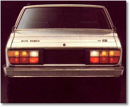 traseira Alfa 2300 Ti 1985 - 1986