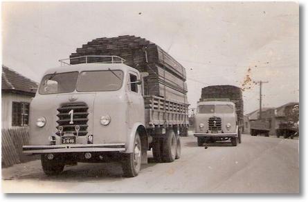 FNM n.º 1 ano 1965 e n.º 2 ano 1956 - João Bernardo Gosk (Iasko) Carga de madeira de Palmas para São Francisco do Sul