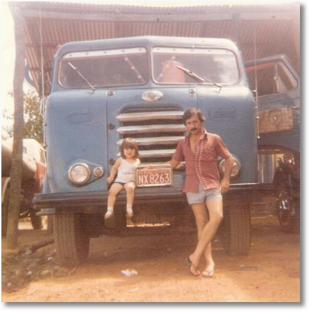 FNM Proprietário Zeno na divisa em Terezina com sua filha Cristiane - Este Alfa pertenceu ao Sr. Pedro Padilha