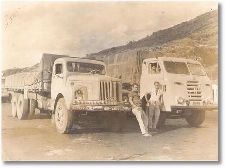 Scania Vabis e FNM - foto provavelmente tirada em Milagres-BA - Sem origem definida