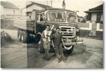 Celso Valaski e Nelson Pampuch com o FNM - 1960 em São José dos Pinhais