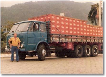 FNM 180 4º eixo ano 75 - Motorista Oliverio Pacheco dos Santos em 1978 - Proprietário Adir Buhrer e Rafael Dissenha