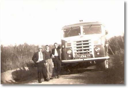 FNM 57 - BIgode, Jacir e Lourival da Silveira em São Bento do Sul 1958