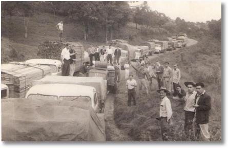 Lourival da Silveira (Lula) - Greve por melhores estradas em Porto União - 1960