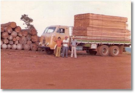 Proprietário Agenor Brandini Padilha - Carga de madeira em 7 Quedas - PR
