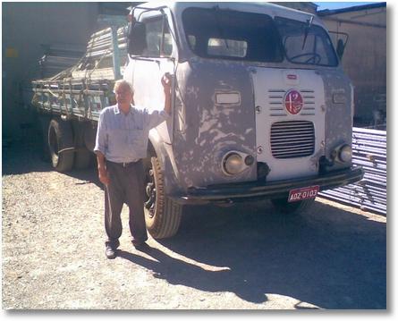 Darcy Boz com FNM 66 unico dono,hoje com 82 anos continua trabalhando
