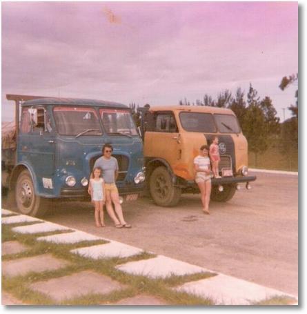 FNM 180-75 Prop. João Luiz Camargo - FNM V12-70 motorista Dimas. Divisa RS e SC cidade Belvedere em 1982