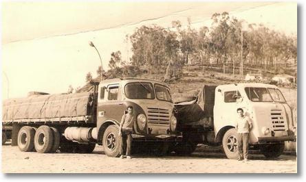 FNM Brasinca 59 - Saul Moreira e FNM D11000 64-Jovino de Paula. Aparecida do Norte 1970 - Prop