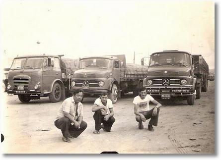 FNM 180 ano 75 motorista Katuo Nitta e Antonio Amaro da Rocha outro não reconhecido em Campina Grande- Paraiba