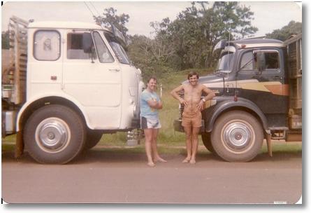 FNM 180 motorista Eloy Dimas e Antonio Dissenha em Alto Araguaia MT 1988
