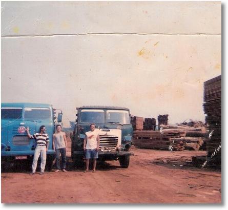 FNM 62 e 180 ano 76. Jusselio Saldanha (Neio) com Beto Primo e Beto FNM